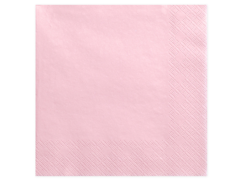 Servetten roze 40 x 40 cm. 20 st.