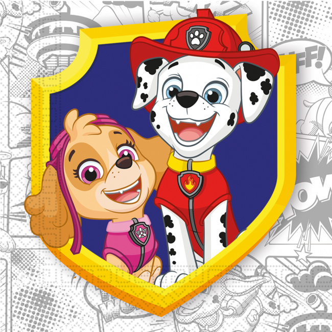 Paw Patrol Yelp For Action 33 x 33 cm. 20 st.