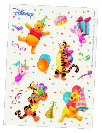 Disney Winnie the Pooh birthday stickervel 6 st.