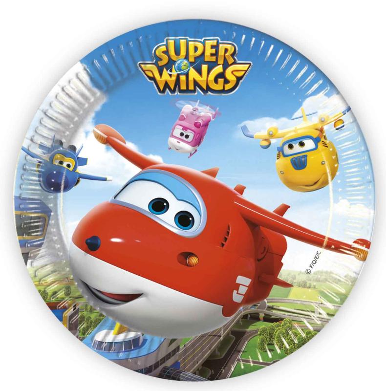 Super Wings bordjes ø 23 cm. 8 st.