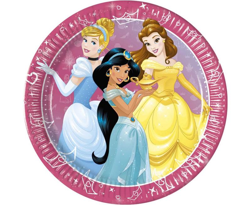 Disney Princess Day Dream bordjes ø 23 cm. 8 st.