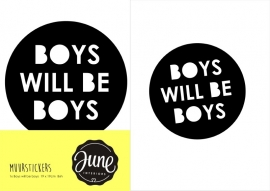 MUURSTICKER BOYS WILL BE BOYS