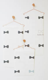 Behang little bow blauw - Bibelotte