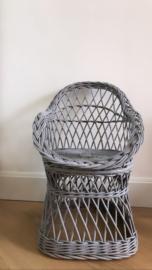 Rotan stoeltje grijs