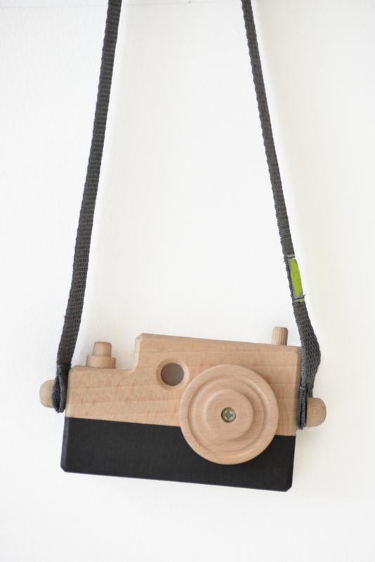 Houten fototoestel Zwart