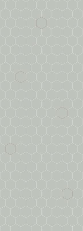 Behang Honingraat Zeegroen - Bibelotte