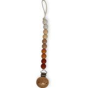 Speenkoord Chewies -  beads ombre clay