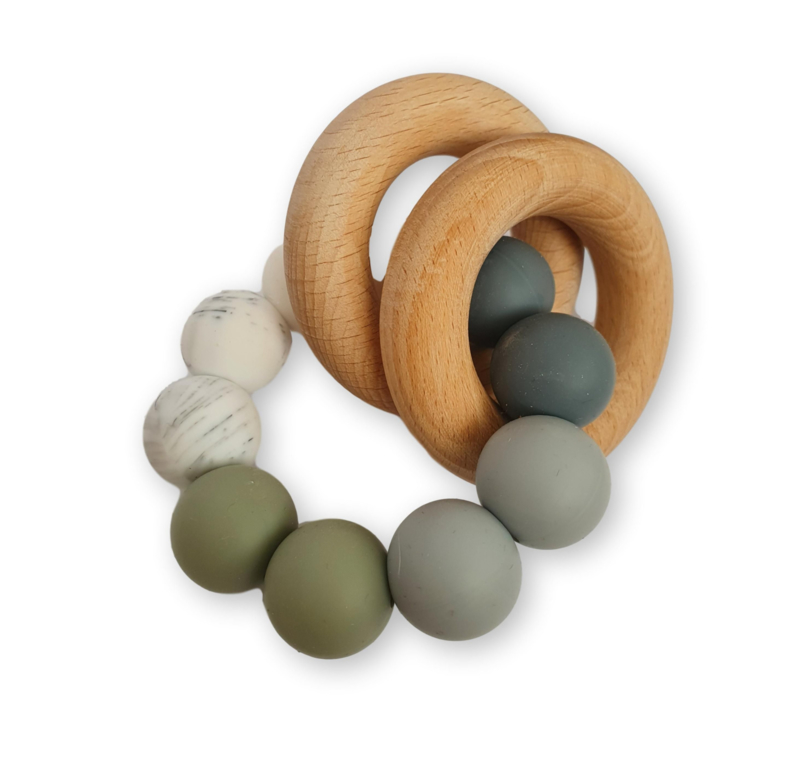 Bijtring Chewies - basic rattle ombre sage
