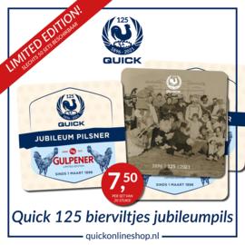 Bierviltjes Quick 125 - 20 stuks - limited edition