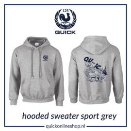 Hooded sweater Q125 - Qu..i..c.k sport grey