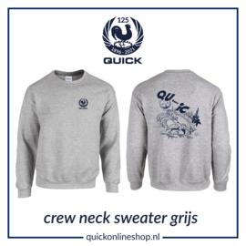 Crew neck sweater Q125  Qui..c.k - sport grey