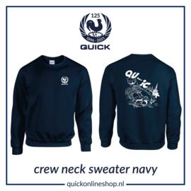 Crew neck sweater Q125 Qui..c.k - navy