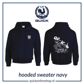 Hooded sweater Q125 - Qu..i..c.k navy
