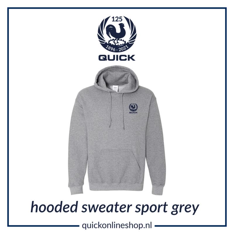 Hooded sweater Q125 - sport grey