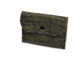 Cardholder army green croco