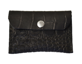 Cardholder black croco