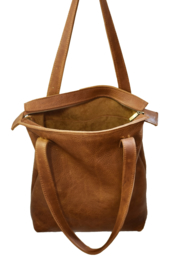 S.C. Sally Zipper cognac