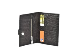 Johnny C. junior zwart croco zilver