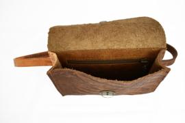 Beltbag cognac croco