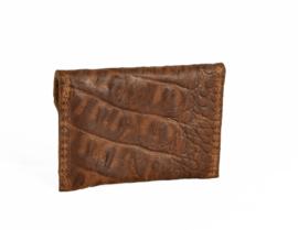 Cardholder cognac croco