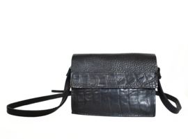 Little Harley black combi croco