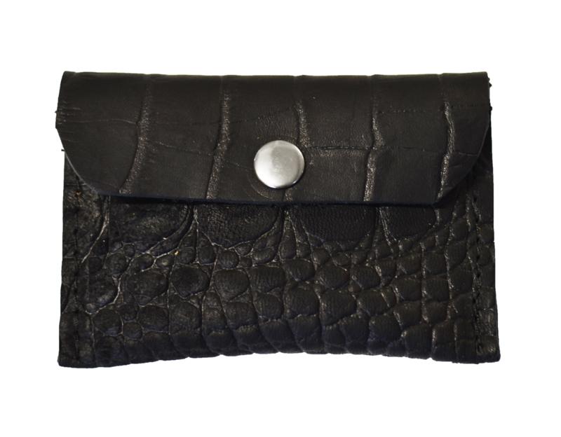 Cardholder black croco