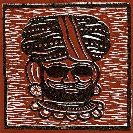 "The Great Munzini & The Astonishing Sotos - Turban Twist (Lim. linocut serie 7"")"
