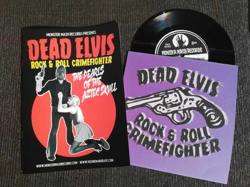 "Dead Elvis - Comic + The pearls of the Aztec skull (lim. linocut serie 7"")"