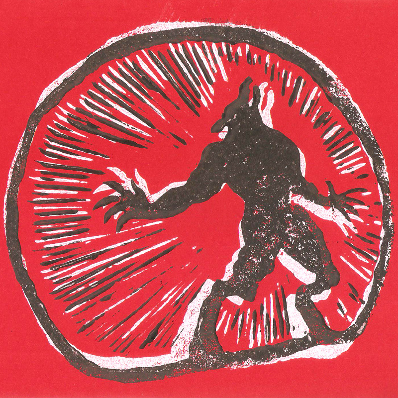 "Ugly Fly Guys - Werewolves Of Durham (lim. linocut serie split 7"")"