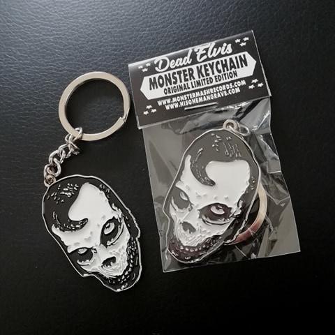 Dead Elvis keychain