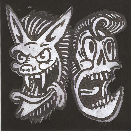 "Dead Elvis vs. Hombre Lobo (lim. linocut serie split 7"")"