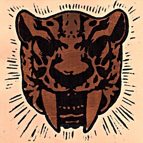 "Hipbone Slim -Sabretooth (Lim. linocut serie 7"")"