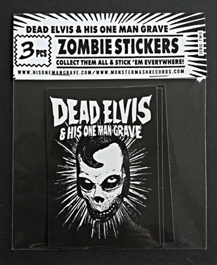 Zombie sticker pack (3pcs)