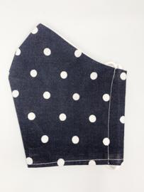 Mondkapje 'donkerblauw stip'