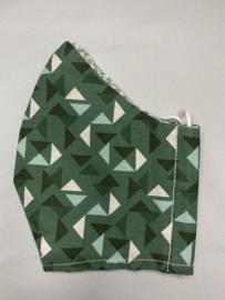 Mondkapje 'groen driehoekje'