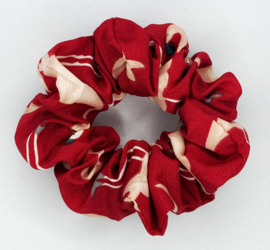 Scrunchie flamingo rood