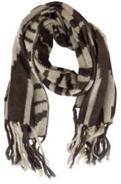 Bruine sjaal zebra print