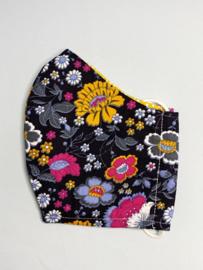 Mondkapje 'fleurige bloemen'