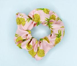 Scrunchie ananas roze
