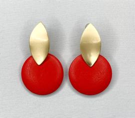 Oorbellen rood