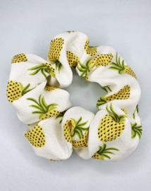 Scrunchie ananas wit