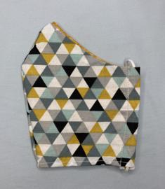 Mondkapje 'driehoekjes'