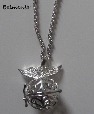 Engelenroeper rond vleugel zilverkleur