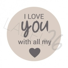 I love you with all my ❤