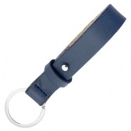 Cuoio sleutelhanger Crown Blue