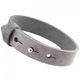 Cuoio leren armband Graphite grijs