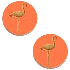 Houten Flamingo Orange