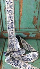 Blauw bloemen band (165cm)