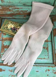 Lange lila handschoenen