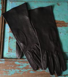 Donkerbruine zachtleren handschoenen